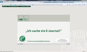 Ich suche ein E-Journal